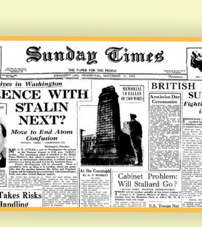 Surat Kabar Dunia dan Perang 10 November 1945