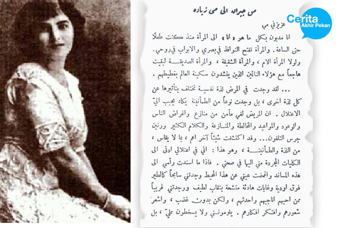Surat Cinta Kahlil Gibran 1919 Surabayastory Com
