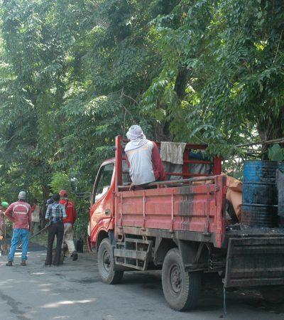 Penambalan Jalan di Surabaya Kala Musim Hujan